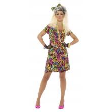80'erne Neonkjole Kostume