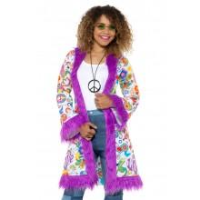 60'er Hippiefrakke Lilla