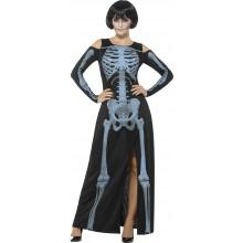 Skeletkjole Røntgen Kostume