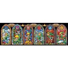 The Legend Of Zelda Farvet Glas Plakat