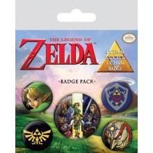 The Legend Of Zelda Badge 5 Stk.