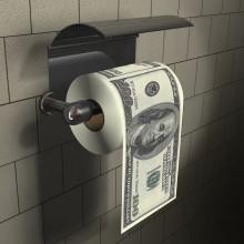 100 Dollar Toiletpapir