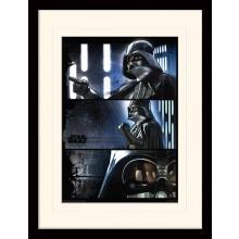 Star Wars Rogue Poster Darth Vader Indrammet