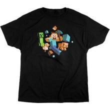 Minecraft Run Away! Glow In The Dark T-Shirt BØRn