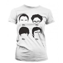 Big Bang Theory Prefix Heads Pige T-shirt