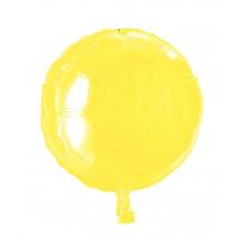 Folieballon Rund Gul