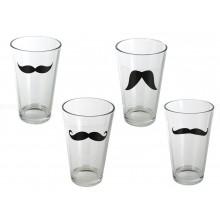 Glas med overskæg