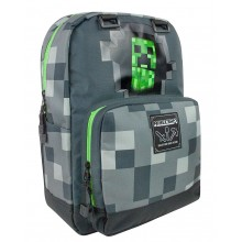 Minecraft Grå Creepy Creeper Rygsæk