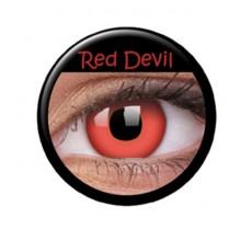 Farvede linser crazy red devil