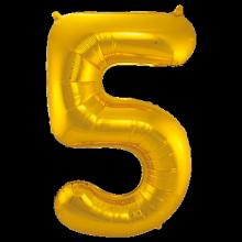 Jumbo Sifferballong Guld 5