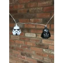 Star Wars 3D Lyskæde Stormtrooper & Darth Vader