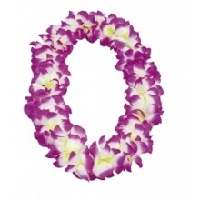 Hawaiikrans Hvid/Lilla
