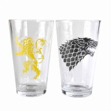 Game Of Thrones Glas Stark & Lannister 2-pak