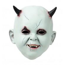 Latexmaske Babyface Med Horn