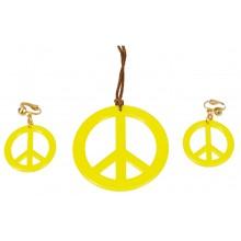 Smykker Gul Peacetegn