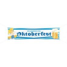 "Banderole ""Willkommen Zum Oktoberfest"" 180 x 40 cm"
