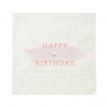 Servietter Happy Birthday 16-pak