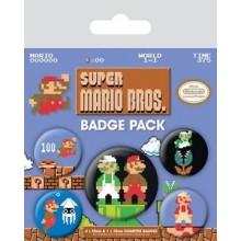 Super Mario Badges 5 Stk.