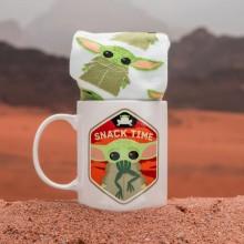 Star Wars Baby Yoda Set Med Mugg Och Strumpor