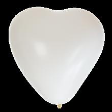 Hjärtballonger Vita 8-pack
