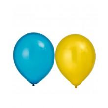 Balloner Metallic Gul/Blå 8-pak