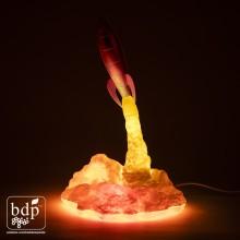 Blast Off Raket Lampe