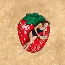 Badehåndklæde Gigantisk Jordbær