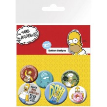The Simpsons Badges 6-Pak Homer