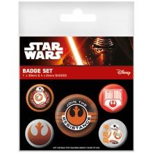 Star Wars Episode Vii Resistance Badges 5-Pack