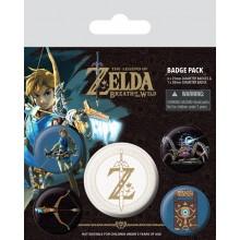 Zelda Badges 5-pak