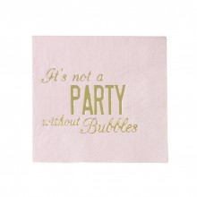 Servietter It's Not A Party Without Bubbles 16-pak