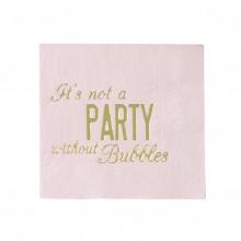 Servietter It's Not A Party Without Bubbles 16-pak