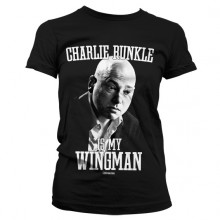 CHARLIE RUNKLE IS MY WINGMAN PIGE T-SHIRT (SORT)