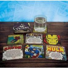 Marvel Comics Glasbrikker 20-pak