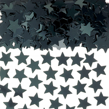 Sort Konfetti Stjerner