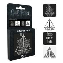 Harry Potter Glasbrikker 4-pak Deathly Hallows