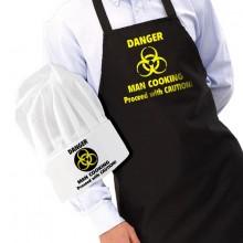 Forklæde og Kokkehue - Danger Man Cooking