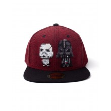 Star Wars Darth Vader & Stormtrooper Pixel Snapback Kasket