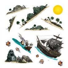 DekorationssÆT Pirat 14-Pak