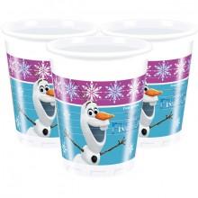 Plasticbægre Frozen 8-pak