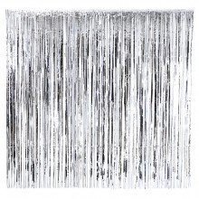 Glitterforhæng Sølv