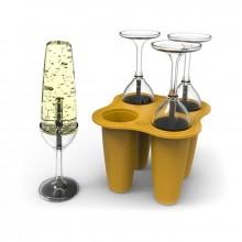 Ispindeforme Champagneglas