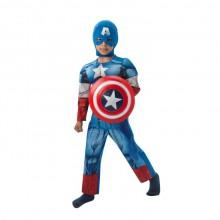 Captain America Børnekostume Deluxe
