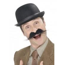 Moustache Engelsk Detektiv