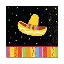 Servietter Sombrero Fiesta 16-pak
