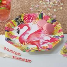 Tallerken Flamingo Deluxe 8-Pak