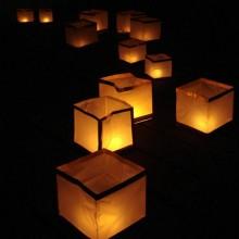 Flydende Asiatisk Lanterne