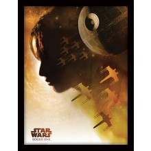 Star Wars Rogue One Poster Indrammet Jyn