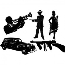 Gangster Silhuet 20'Er 5-Pak