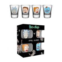 Rick & Morty Shotglas 4-pak